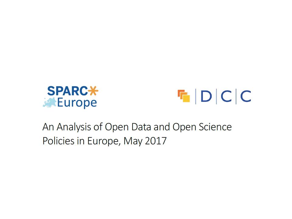 illustration Analyse des politiques Open Data et Open Science en Europe (SPARC/DCC)