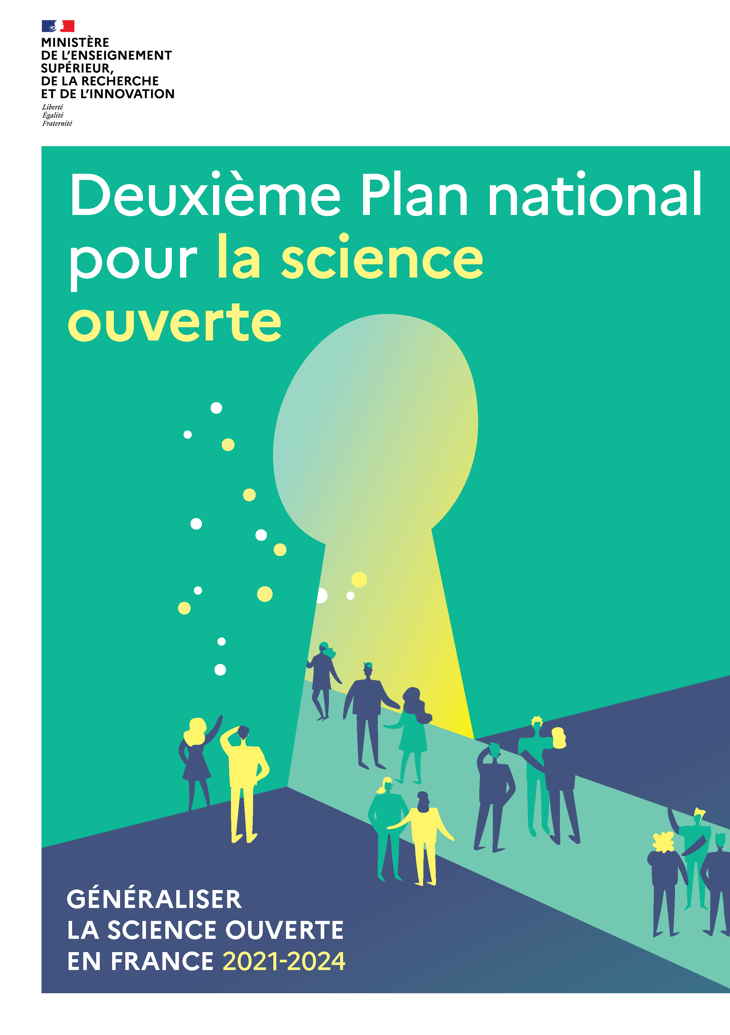 illustration Second National Plan for Open Science | 2021-2024